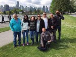 photo - The eight visiting Israel Defence Forces veterans at Stanley Park
