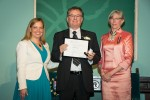 photo - Dr. Robert Krell with the Hon. Coralee Oakes (left), minister of community, sport and cultural development, and the Hon. Judith Guichon, OBC, lieutenant governor of British Columbia