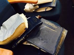 photo - The synagogue's damaged chumashim