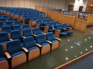 photo - The flooded synagogue sanctuary