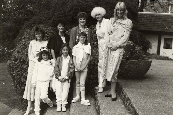 photo - ORT fashion show: Dianne Faber (extreme right), Leta Jones (third from the right), Vancouver, May 30, 1985