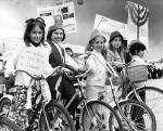 photo - Children with bicycles, possibly at a Beth Israel parade, Vancouver, 1970