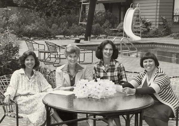 photo - Women at poolside table, Vancouver, 1980