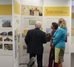 photo - Visitors at the opening of the traveling exhibition at the Schwartz/Reisman Centre in Toronto last month
