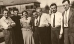 photo - Emanuel Ringelblum (left), Rachel Auerbach (third from the left) and other Jewish intellectuals in Poland, 1938