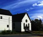 photo - The former Congregation Sons of Israel in Glace Bay. In 1902, the structure was the first purpose-built synagogue in Nova Scotia. It permanently closed in July 2010. To the left of it is what was the Talmud Torah community centre, also now closed. This was the location of the Hebrew school and functions like bar mitzvahs and wedding dinners