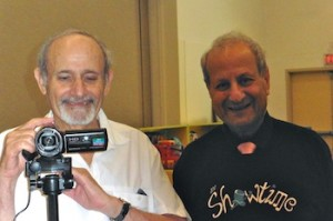 photo - Videographer Stan Shear, left, and performer Maurice Moses