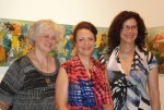 photo - From left to right, Echoes artists Sidi Schaffer, Sorour Abdollahi and Devora