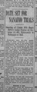 "image - As reported in the Daily Colonist on Sept. 26, 1913, Israel Rubinowitz was released from jail ""on his surety of $500."""