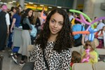 photo - Chani Oirechman at JFK International Airport on July 13 in New York moments before she boarded the plane to Israel