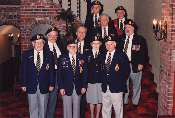 photo - New Royal Canadian Legion Shalom Branch executive, 1989