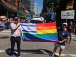 photo - Last year, Yad b'Yad, Hillel BC and others joined the Pride parade. This year, they will host a booth at Sunset Beach, which will allow them to engage more in discussion with festival-goers