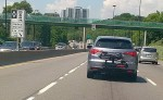 photo - Temporary high-occupancy vehicle lanes were installed on the Don Valley Parkway in Toronto for the 2015 Pan American Games