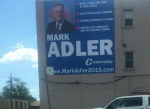 photo - The photo tweeted Aug. 16 by Walrus editor Jonathan Kay of Mark Adler's original campaign office sign.