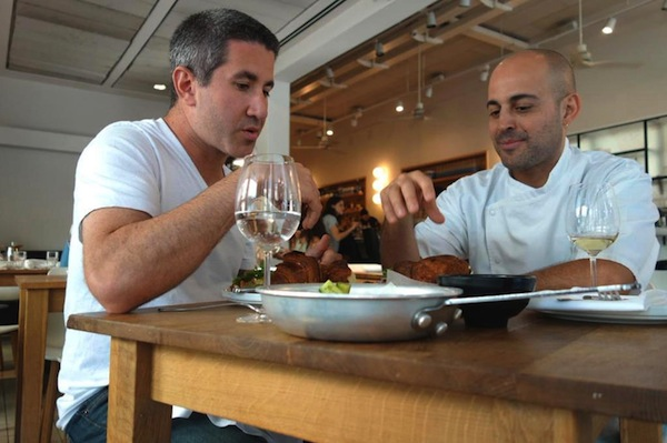 photo - Michael Solomonov dines with Israeli celebrity chef Meir Adoni in Tel Aviv