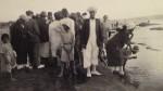 photo - Yemenite Jews participating in Tashlich, Rosh Hashana, 1926