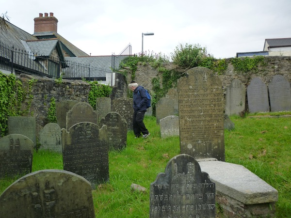 photo - Ted Ramsay in Penzance Cemetery.