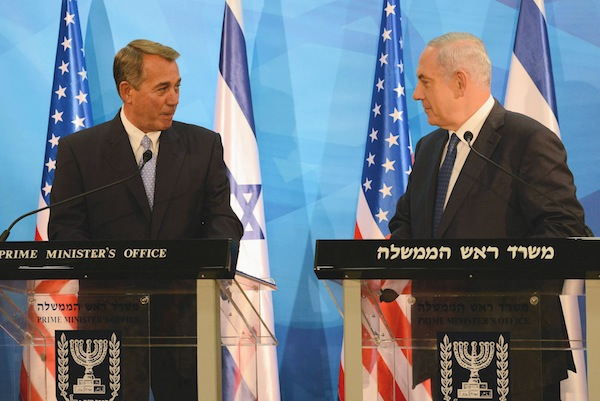photo - In April, Senator John Boehner visits Israel to show his solidarity over the rejection of the deal with Iran.