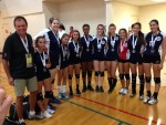 photo - The silver-medal-winning volleyball team at the JCC Maccabi Games in Fort Lauderdale, Fla.