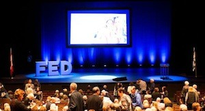 photo - Audience members take their seats at FEDtalks on Sept. 17