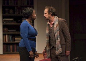 photo - Marci T. House as Jory and Robert Moloney as Isaac in Disgraced