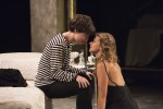 photo - Camille Legg as Romeo, left, and Adelleh Furseth as Juliet share an intimate moment in Studio 58's Romeo and Juliet