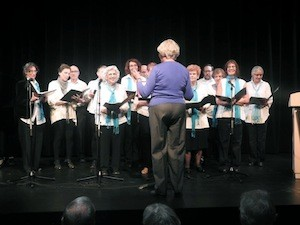 photo - The opening concluded with music from the North End Jewish Folk Choir
