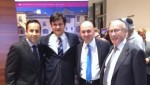 photo - Left to right: Nico Slobinsky of Centre for Israel and Jewish Affairs, Pacific Region; His Excellency Balint Odor; Ezra Shanken of Jewish Federation of Greater Vancouver; and Andre Molnar, Hungarian honorary consul