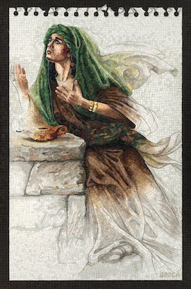 "photo - ""Judith Praying in the Desert,"" by Lilian Broca, part of the Thousand Pieces: The Judith Mosaics of Lilian Broca exhibit"