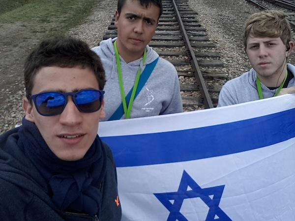 photo - Left to right: Dor Brown, Alex Katz and Oren Bizuener