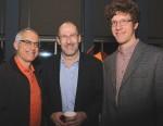 photo - Weizmann Canada event speaker Dr. Brian Berkowitz, centre, with attendees David Berson, left, and Raffi Reitzik