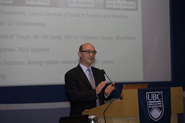 photo - Consul General D.J. Schneeweiss gives the opening address at the Oct. 7 VIT event