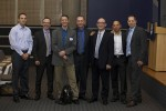 photo - The Vancouver Israeli Technology Club team on Oct. 7 with event speakers, left to right: Ronen Tanne (VIT), Prof. Ran Goldman, Ido Sarig, Eran Elizur (VIT), Consul General D.J. Schneeweiss, Yaron Bazaz (VIT) and Rod Zehavi