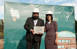 photo - Chabad of Vancouver Island Rabbi Meir and Rebbetzin Chani Kaplan at the Aug. 23 groundbreaking