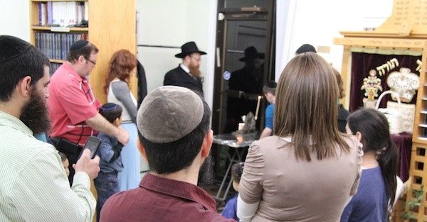 photo - Menorah lighting at Centre for Judaism
