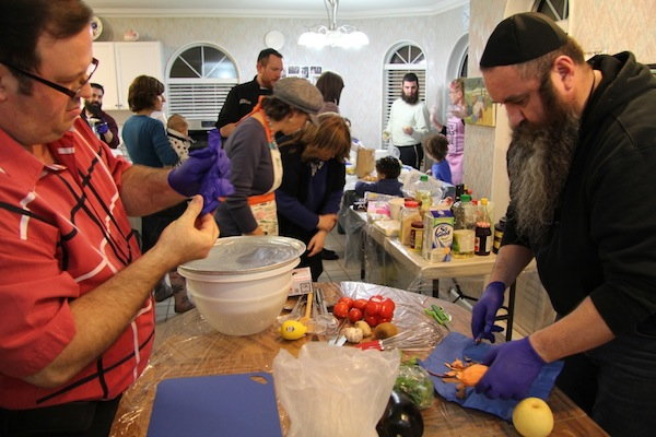 photo - After the menorah lighting, the Iron Chef Chanukah competition began in Surrey