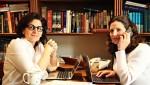 photo - Naomi Brounstein, left, and Vivi Mann working on Ten Gav