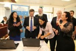 photo - Israeli politicians learn to sign on the day that the Institute for the Advancement of Deaf Persons in Israel inaugurated a new online dictionary at the Knesset on Oct. 21