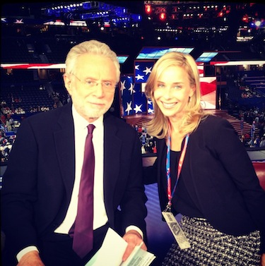 photo - Leah Stern on a CNN mentorship program with Wolf Blitzer at the Republican National Convention in Florida