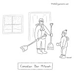 cartoon - Canadian bar mitzvah, by Jacob Samuel