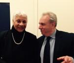 photo - Keynote speaker Senator Anne Cools with Janusz Korczak Association of Canada president Jerry Nussbaum