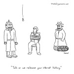 cartoon - Talk or we release your internet history