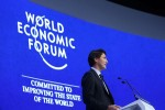 photo - Prime Minister of Canada, Justin Trudeau, in Davos, Switzerland last week