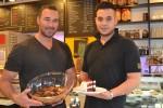 photo - Shuk owner Alon Volodarsky, left, and chef Evy Swissa