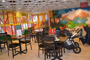 photo - In addition to great food, Shuk has space in the large dining room to keep the 2- to 6-year-old crowd entertained.