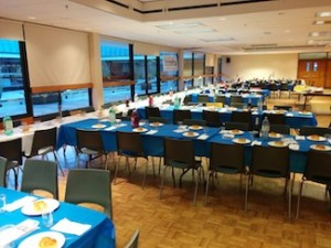photo - Prepared for the 140 guests to arrive for Shabbat 100