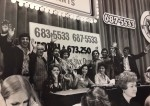 photo - Peter Barnett, fourth from the right, with the Variety telethon crew, in the 1970s/80s.