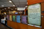 photo - The Post-Survivor Exhibit in Mystic Market, one of the busiest spots on campus