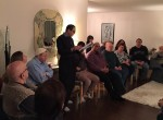 photo - Farhad Sultanpour of the Kurdish Association of Manitoba speaks to members of the Winnipeg Jewish community and others