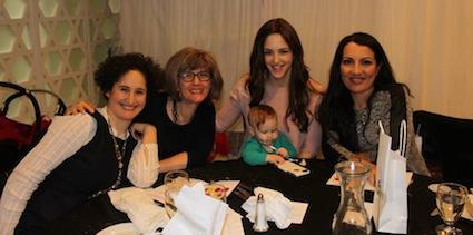 photo - Left to right: Shula Klinger, Pamela Shapiro, Miki Mochkin with Anya, and Genny Krikler